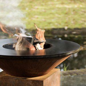 Vasque de feu acier Corten